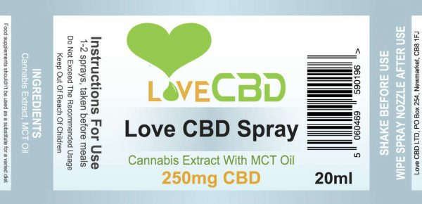 250MG LOVE CBD SPRAY – 20ML