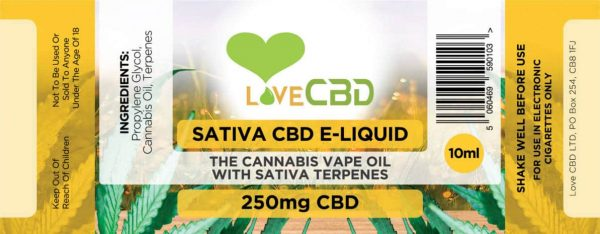 Sativa e-liquid label