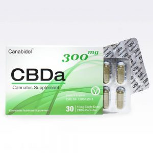 CANABIDOL CBDA ORAL CAPSULES 300MG