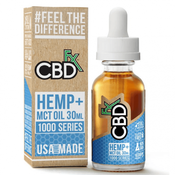 CBD Hemp MCT Oil Tincture 1000 Series 30ml By CBDfx