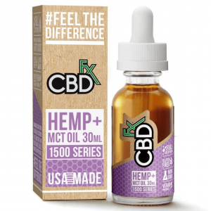 CBD Hemp MCT Oil Tincture 1500 Series 30ml By CBDfx