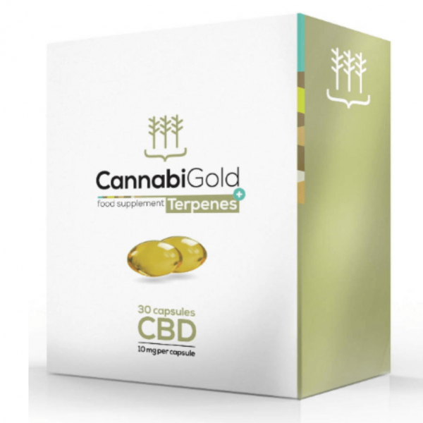 CBD Smart Capsules 30 x 10mg By Cannabigold Terpenes+