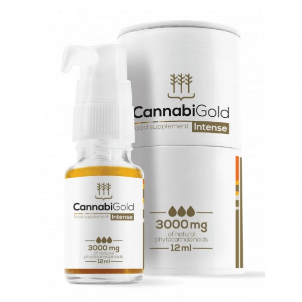 CannabiGold - Intense Food Supplement - 3000mg - 12ml