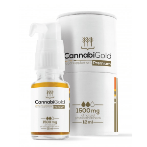 CannabiGold - Premium Food Supplement - 1500mg - 12ml