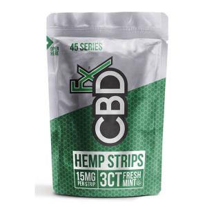 Fresh Mint Hemp Strips 3 Pieces 15mg CBD Each CBDfx