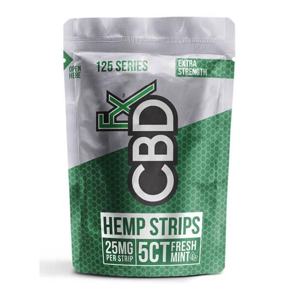 Fresh Mint Hemp Strips 5 Pieces 25mg CBD Each CBDfx