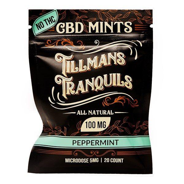 Tillmans Tranquils Peppermint CBD Mints 20 x 5mg (600 x 600)