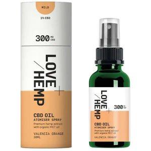 Valencia Orange CBD Oil Atomiser Spray 30ml By Love Hemp