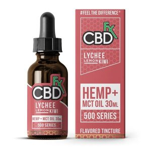 CBDfx MCT Oil Tincture 30ml Lychee Lemon Kiwi