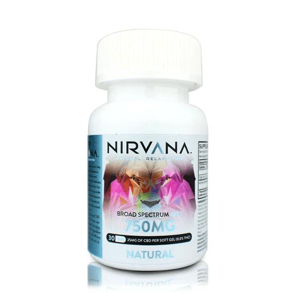 Nirvana Natural Relaxation Broad Spectrum Gels Natural 30pcs By Nirvana CBD