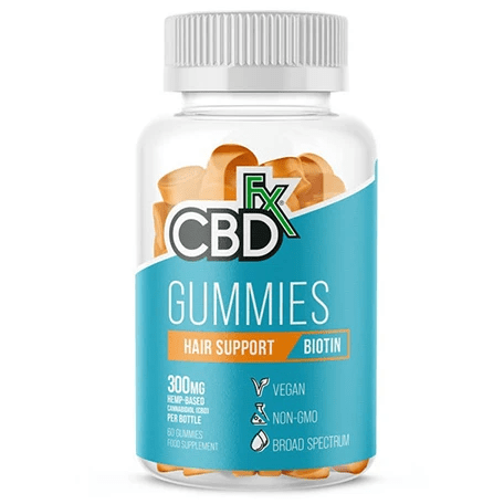 CBD Gummies Hair Support Biotin 300mg By CBDfx