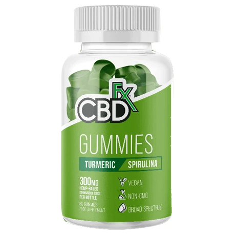 CBD Gummies Turmeric Spirulina 300mg By CBDfx