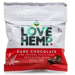 CBD Infused Dark Chocolate Bites 64% Cocoa 20mg 50g By Love Hemp