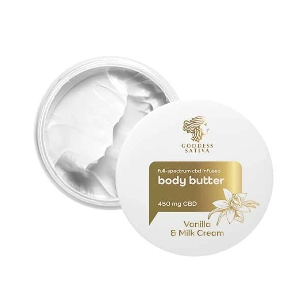 Goddess Sativa Body Butter Vanilla & Milk Cream 450mg 100ml By Reakiro