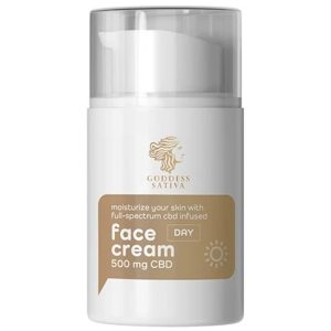 Goddess Sativa Day Face Cream 500mg 50ml By Reakiro