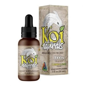 Naturals Lemon Lime Broad Spectrum CBD Supplement 30ml By Koi CBD