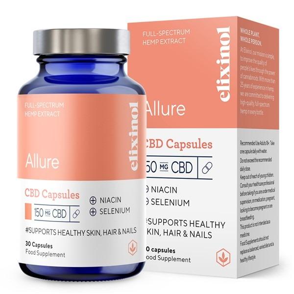 Allure Full Spectrum CBD Capsules By Elixinol