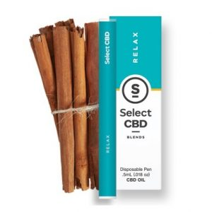 Relax Cinnamon CBD Vape Pen 250mg By Select CBD