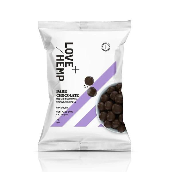 CBD Infused Dark Chocolate Balls By Love Hemp
