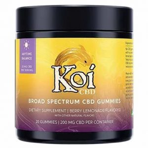 Berry Lemonade Broad Spectrum CBD Gummies By Koi CBD