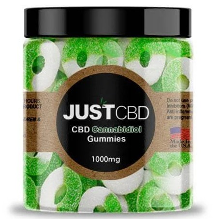 CBD Apple Rings Gummies By Just CBD