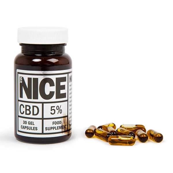 CBD Gel Capsules 5% 500mg By Mr Nice