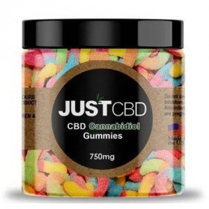 CBD Sour Worms Gummies By Just CBD