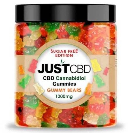 Sugar Free CBD Gummies Bears By Just CBD