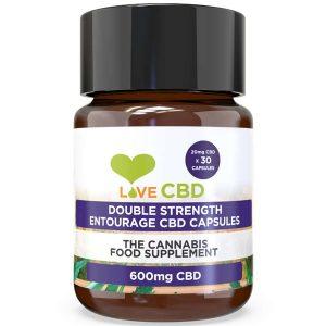 Entourage Double Strength CBD Capsules By Love CBD