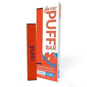 Mixed Berries Go CBD Puff Bar Disposable Vape Device